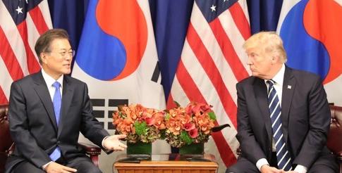 特朗普访韩讲话软化姿态 - 金评媒