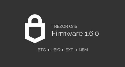 Trezor固件更新会带来更短的地址,并支持更多的令牌